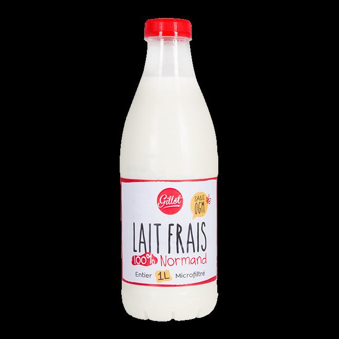Produits Frais – Lait frais de Normandie sans OGM  entier