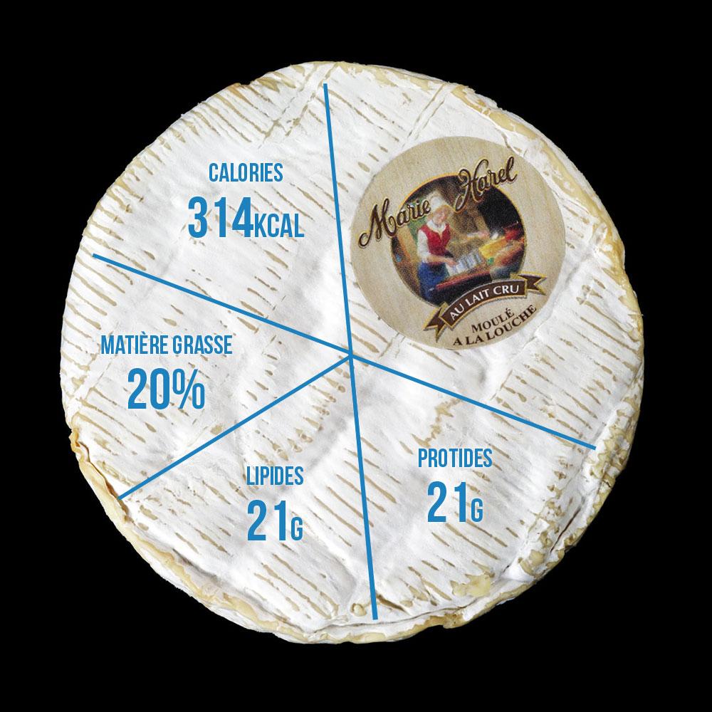 Valeurs nutritionnelles Camembert de Normandie Gillot
