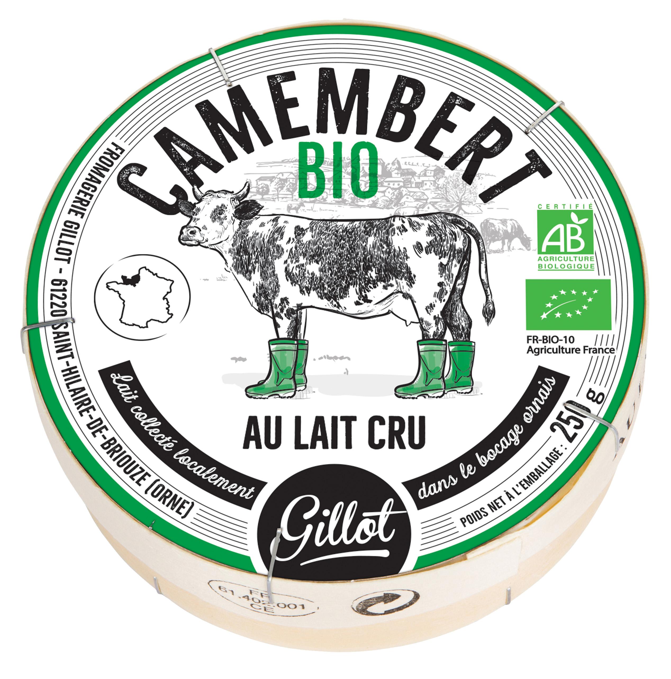 Camembert bio au lait cru